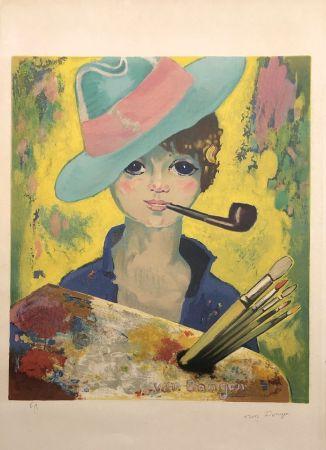 Litografía Van Dongen - Jean Marie avec un chapeau et une pipe