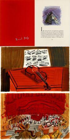 Libro Ilustrado Dufy - Jean Witold : CONCERT DES ANGES - 9 lithographies en couleurs (1963).