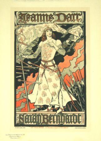 Litografía Grasset - Jeanne D'arc  Les Maitre de L'affiche Planche 174