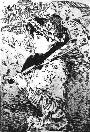 Aguafuerte Manet - Jeanne ou le printemps