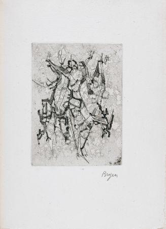 Libro Ilustrado Bryen - Jepeinsje. Poème et eau-forte de Camille Bryen (1955)