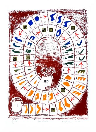Litografía Alechinsky - Jeu classique