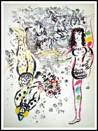 Litografía Chagall - JEU D'ACROBATES