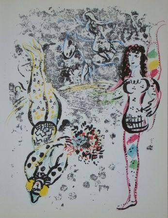 Litografía Chagall - Jeu des acrobates