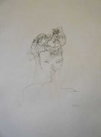 Grabado Bellmer - Jeune-fille