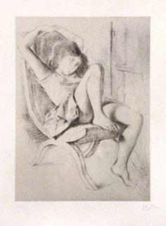 Litografía Balthus - JEUNE FILLE