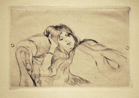 Punta Seca Morisot - Jeune fille au repos