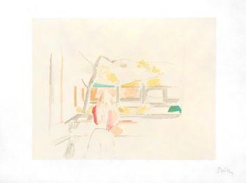 Litografía Balthus - JEUNE FILLE DE DOS