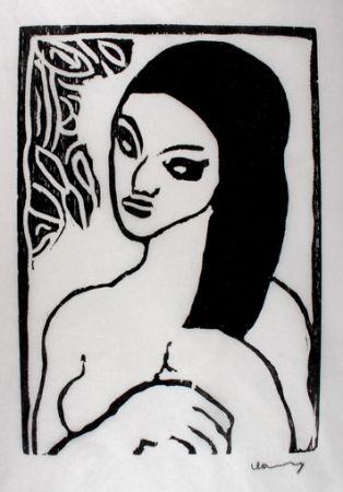 Grabado En Madera Vlaminck - Jeune Fille se Coiffant