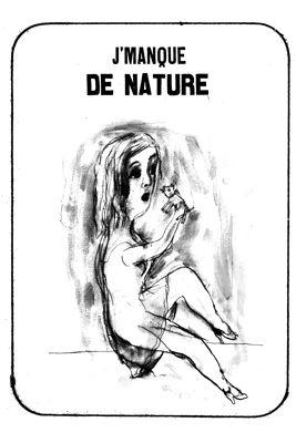 Litografía Dutertre - J'manque de nature