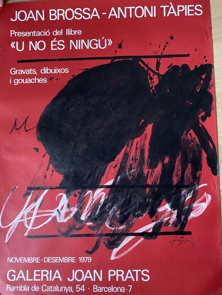 Cartel Tàpies - Joan Brossa- Antoni Tàpies Poster