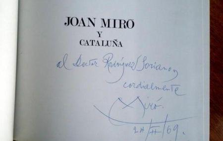 Libro Ilustrado Miró - JOAN MIRÓ Y CATALUÑA (Signed)