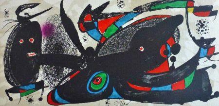 Litografía Miró - Joan Miro - Miró Escultor . Gran Bretaña 40 X 20 Cm.firmada En Plancha