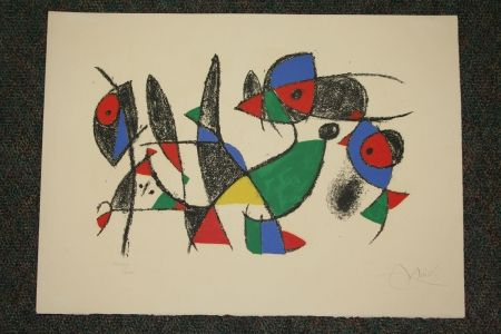 Litografía Miró - Joan Miro Lithographs Ii  Plate 10