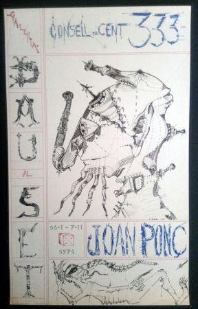 Cartel Ponç - Joan Ponç Dau al Set 1974