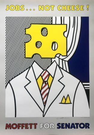 Litografía Lichtenstein - Jobs... Not Cheese (Hand Signed)