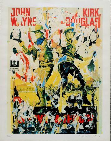 Serigrafía Rotella - John Wayne - Kirk Douglas