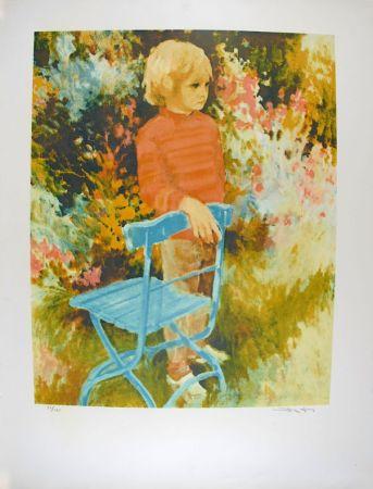 Litografía Kitslaar - Jongetje bij stoel