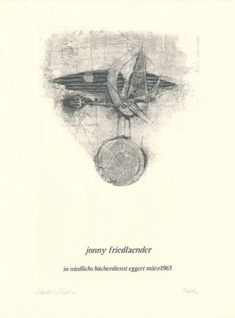 Aguafuerte Y Aguatinta Friedlaender - Jonny Friedlaender in niedlichs bücherdienst eggert märz 1965