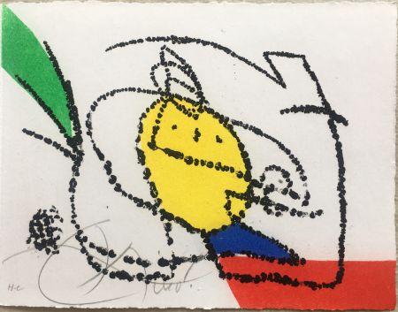 Libro Ilustrado Miró - Jordi de Sant Jordi : CHANSON DES CONTRAIRES. Avec une gravure signée de Joan Miró (1976).