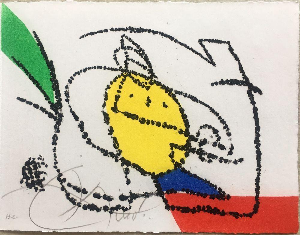 Libro Ilustrado Miró - Jordi de Sant Jordi : CHANSON DES CONTRAIRES. Une gravure signée de Joan Miró (1976).
