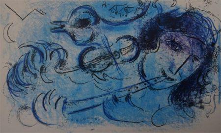 Litografía Chagall - Joueur de Flute