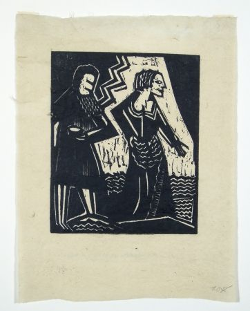 Grabado En Madera Achmann - Judith und Holofernes II