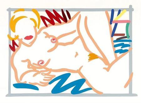 Serigrafía Wesselmann - Judy on a Blue Blanket