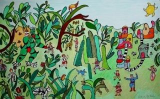 Litografía De Saint Phalle - Jungle