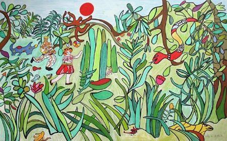 Litografía De Saint Phalle - Jungle 2