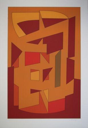 Litografía Vasarely - KALLION - Gordes-Cristal periode