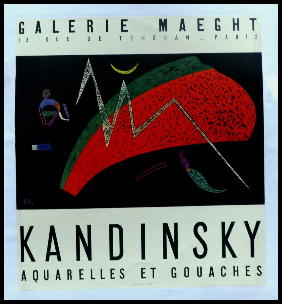 Cartel Kandinsky - KANDINSKY GALERIE MAEGHT AQUARELLES ET GOUACHES