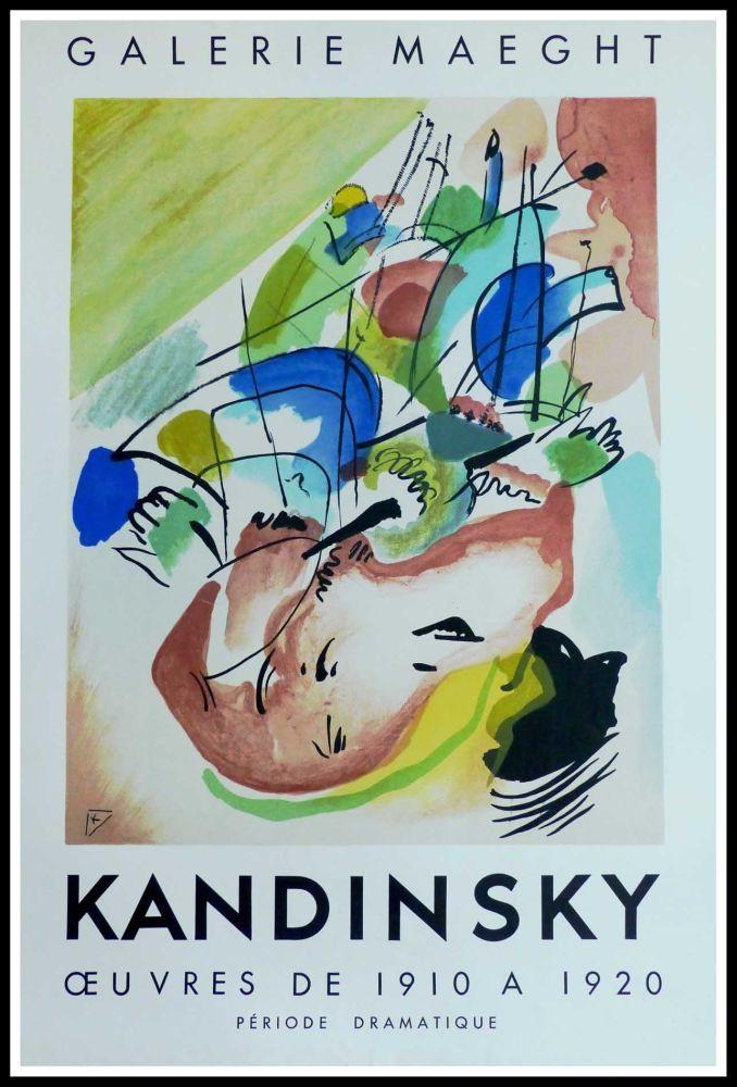 Cartel Kandinsky - KANDINSKY GALERIE MAEGHT IMPROVISATION ABSTRAITE