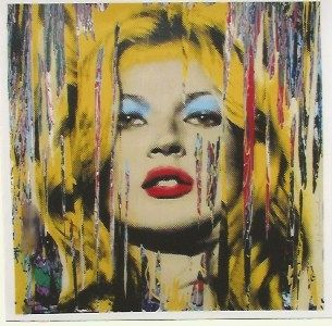 Serigrafía Mr. Brainwash - Kate Moss