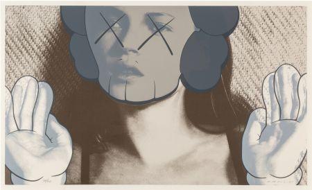 Serigrafía Kaws - Kate Moss White Gloves is a Sreenprint by KAWS
