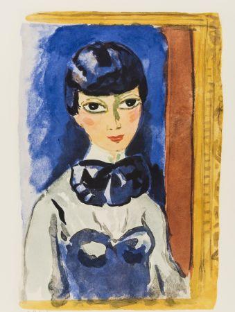 Litografía Van Dongen - Kees Van DONGEN (1877-1968). Claudine, circa 1950. Lithographie signée.