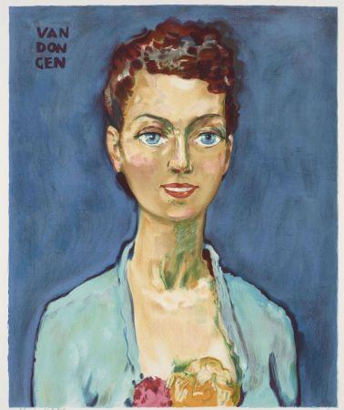 Litografía Van Dongen - Kees van Dongen (1877-1968). Hommage à Marie-Claire. Lithographie signée.