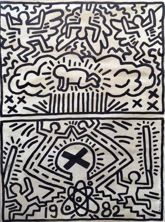 Litografía Haring - Keith Haring 'Nuclear Disarmament' 1982 Plate Signed Original Pop Art Poster