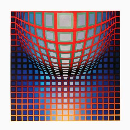 Heliograbado Vasarely - '' KEZDI - VEGA ''