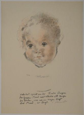 Litografía Amiet - Kinderköpfchen