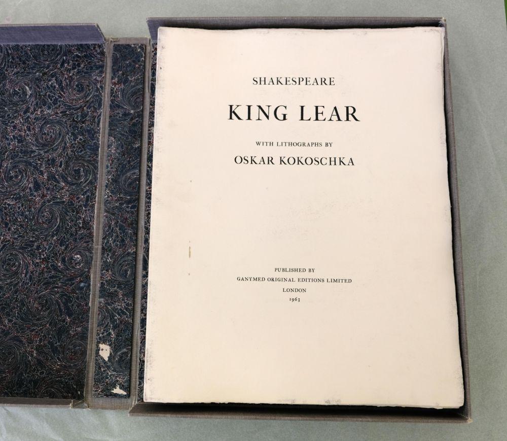 Litografía Kokoschka - King Lear