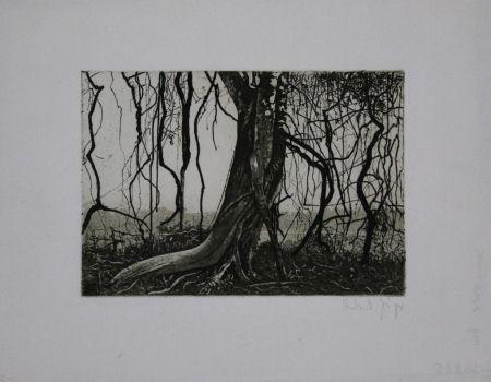 Aguafuerte Y Aguatinta Jäger - Knorriger Baum / Gnarled Tree
