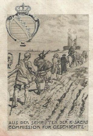 Aguafuerte Y Aguatinta Klinger - Kollektiv-Titel für Veröffentlichungen der kgl. sächsischen Komission für Geschichte