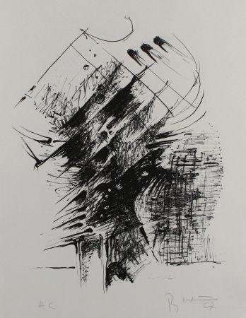Litografía Heiliger - Komposition IV