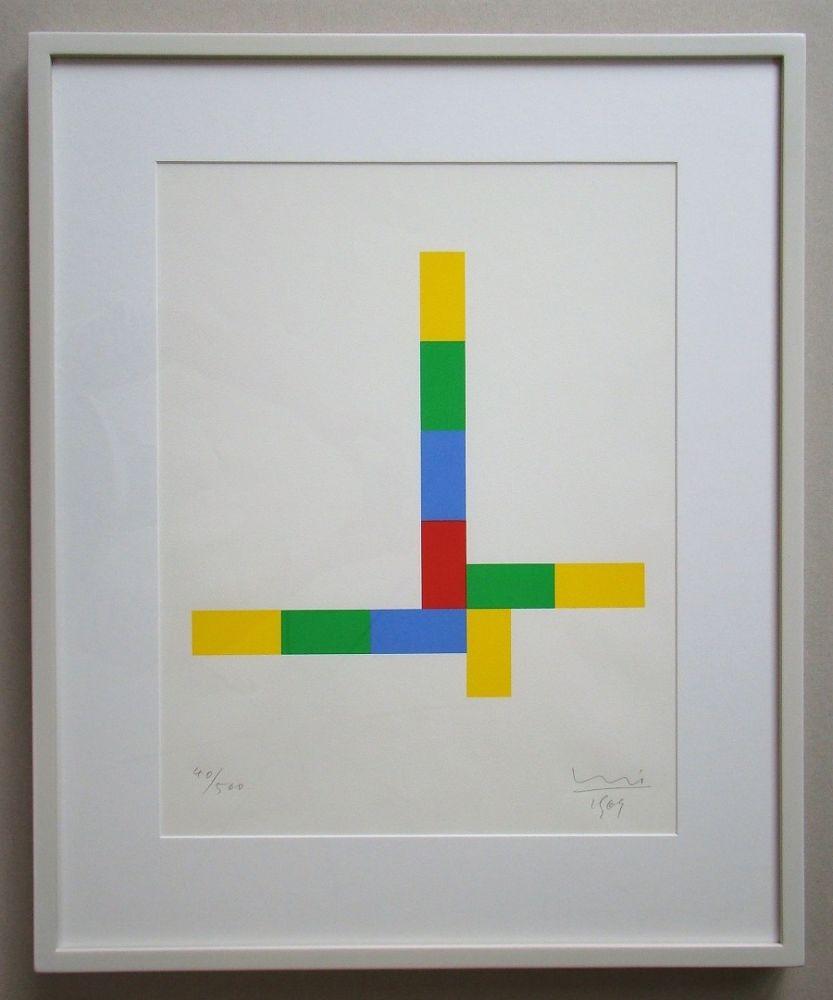 Serigrafía Bill - Konkrete Komposition - 1969
