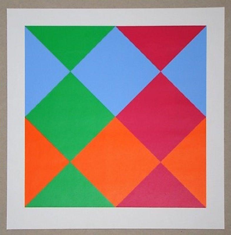 Serigrafía Bill - Konkrete Komposition, 1966