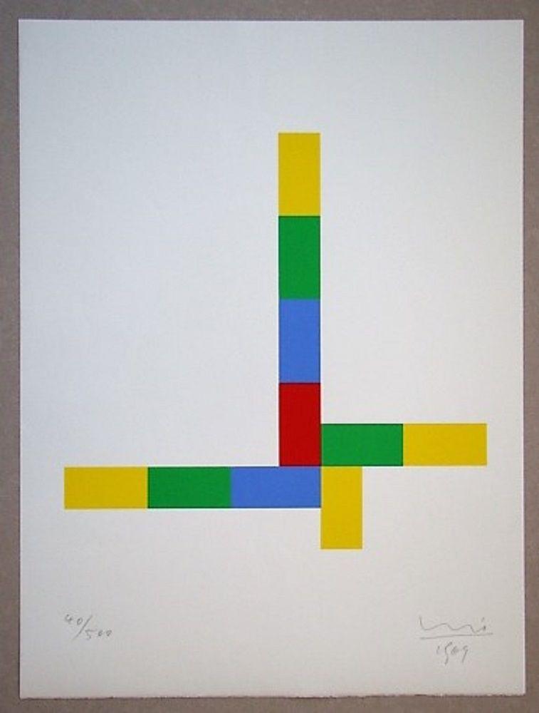 Serigrafía Bill - Konkrete Komposition, 1969