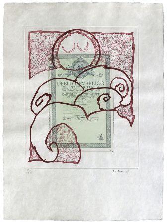 Aguafuerte Alechinsky - Krach I.