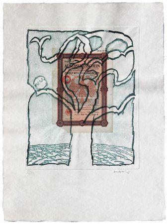 Aguafuerte Alechinsky - Krach V.