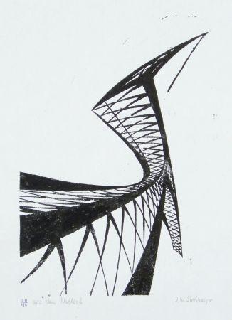 Linograbado Strohmeyer - Kran (Crane)